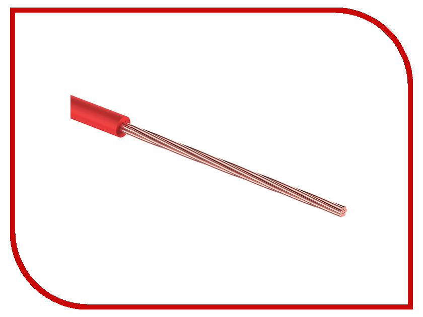 Аксессуар Rexant 1 x 1.00mm2 100m Red 01-6524