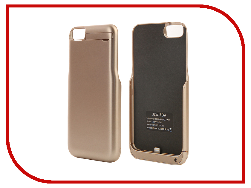 Аксессуар Чехол-аккумулятор Aksberry 2800 mAh для iPhone 7 Gold<br>