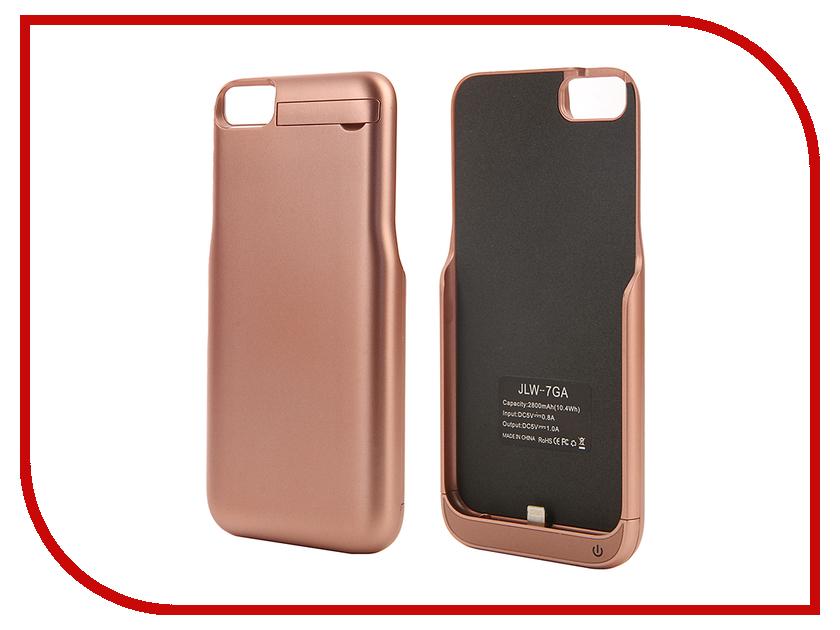 Аксессуар Чехол-аккумулятор Aksberry 2800 mAh для iPhone 7 Pink Gold аксессуар чехол аккумулятор aksberry 6pc 4000 mah для iphone 6 plus gold