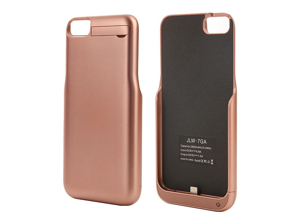 Аксессуар Чехол-аккумулятор Aksberry для APPLE iPhone 7 2800 mAh Pink Gold аксессуар чехол nokia x aksberry red