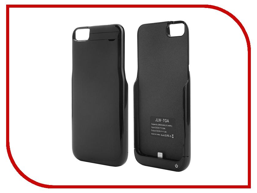 Аксессуар Чехол-аккумулятор Aksberry 2800 mAh для iPhone 7 Black Onyx аксессуар чехол аккумулятор krutoff x4 3800 mah для iphone 6 black 48186