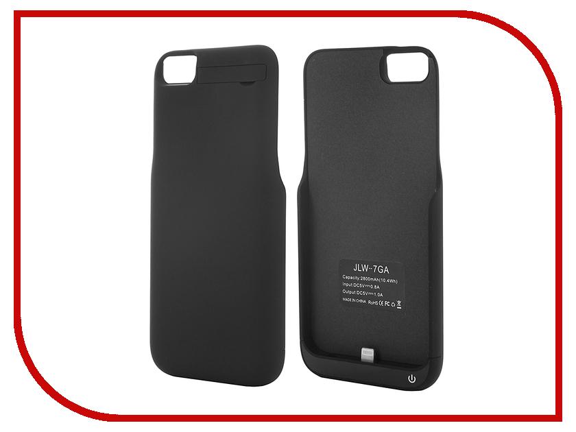 Аксессуар Чехол-аккумулятор Aksberry 2800 mAh для iPhone 7 Black<br>