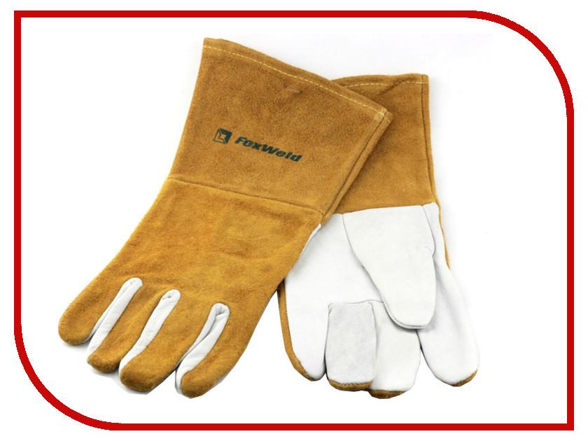 все цены на Аксессуар Перчатки FoxWeld Элит кожаные, мягкие 10-1007L / 10-2374L онлайн
