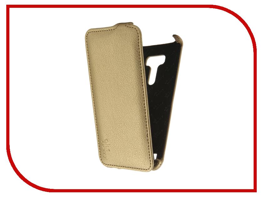 Аксессуар Чехол ASUS ZenFone Selfie ZD551KL Aksberry Gold чехол книжка skinbox lux ms для asus zenfone selfie zd551kl