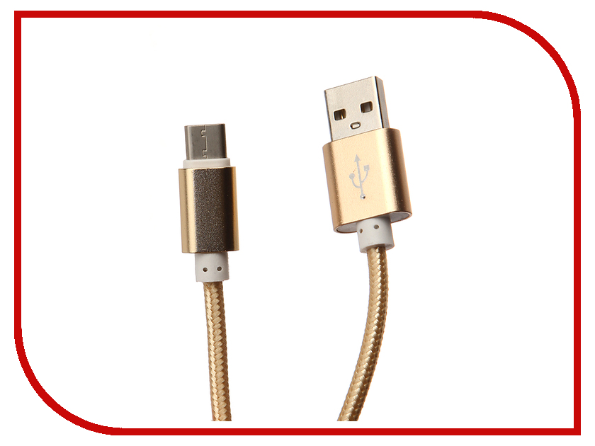 Аксессуар Aksberry USB AB Type C Gold