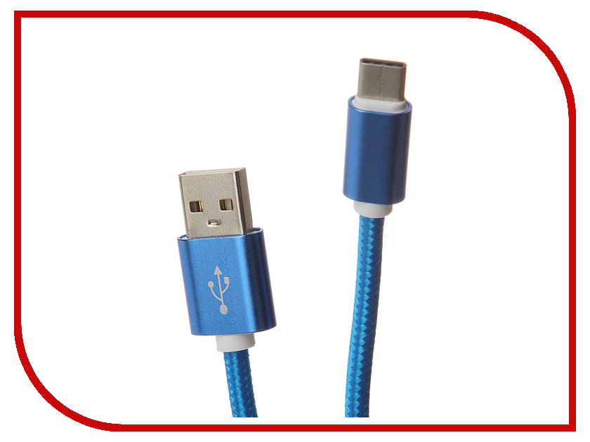 Аксессуар Aksberry USB AB Type C Blue<br>