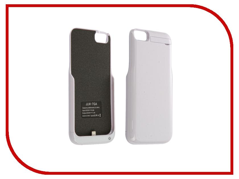 Аксессуар Чехол-аккумулятор Aksberry 2800 mAh для iPhone 7 White аксессуар чехол аккумулятор aksberry 6pc 4000 mah для iphone 6 plus gold