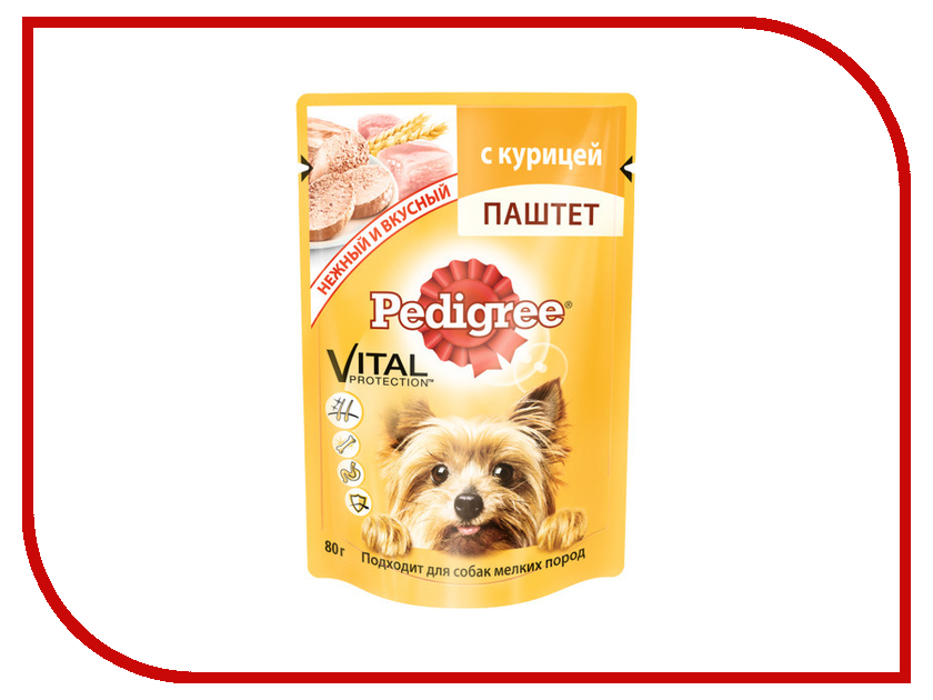 Корм Pedigree Пауч паштет Курица 80g для взрослых собак мелких пород 10131650