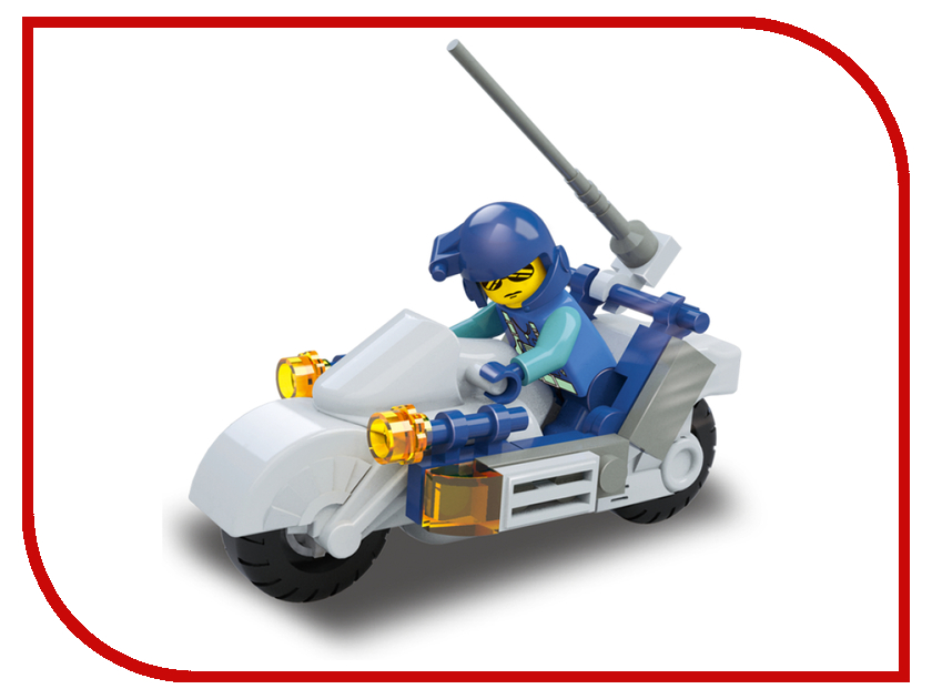 Игрушка Конструктор Sluban Мотоциклист 32 дет. M38-B0329<br>