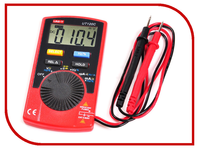Мультиметр UNI-T UT120C uni t ut139a true rms digital multimeter auto manual range ac dc amp volts ohm tester with data hold ncv and battery test