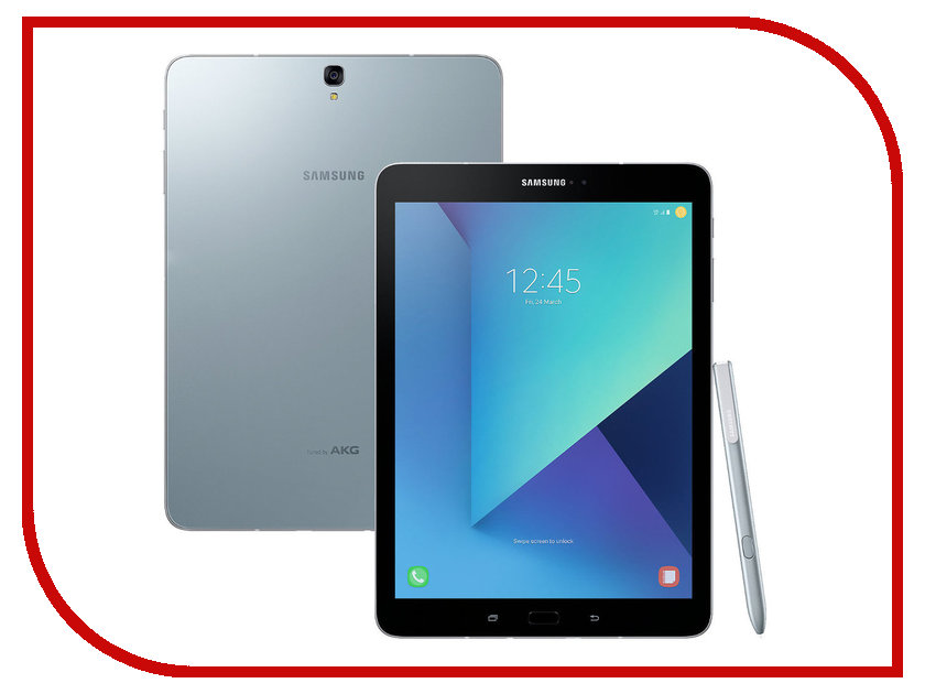 Планшет Samsung SM-T825 Galaxy Tab S3 9.7 32Gb LTE Wi-Fi Silver SM-T825NZSASER (Snapdragon 820 2.15 GHz/4096Mb/32Gb/LTE/Wi-Fi/Bluetooth/Cam/9.7/2048x1536/Android) case for samsung galaxy tab s3 9 7 slim folding flip stand cover pu leather t820 t825 gifts