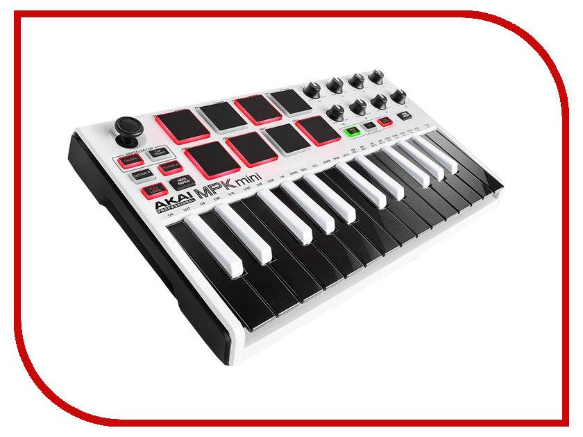 Midi-клавиатура AKAI pro MPK-MINI MKII LE White
