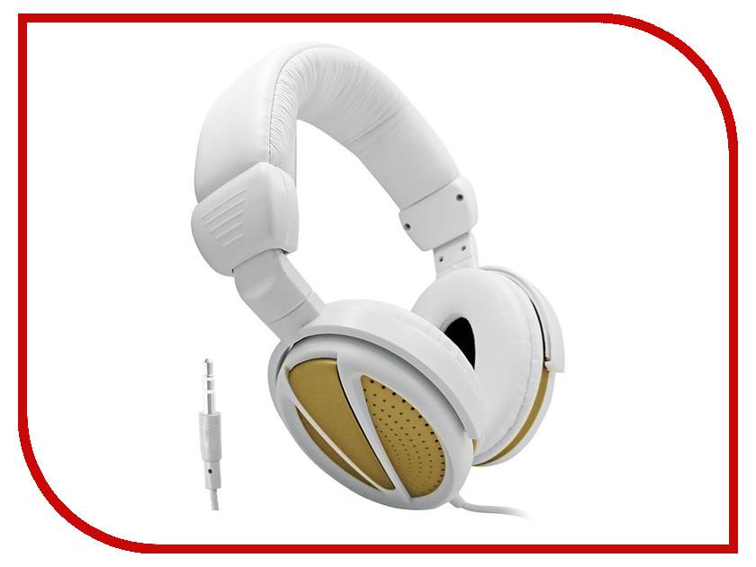 Наушники BBK EP-3300S White-Gold<br>