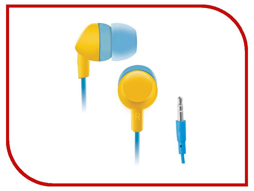 Наушники BBK EP-1420S Light Blue-Yellow