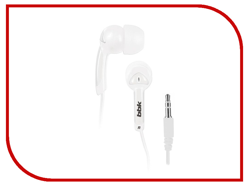 Наушники BBK EP-1401S White<br>