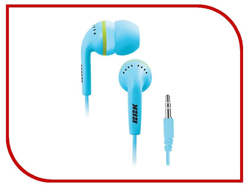 Наушники BBK EP-1240S Blue проводные наушники bbk ep 1401s white