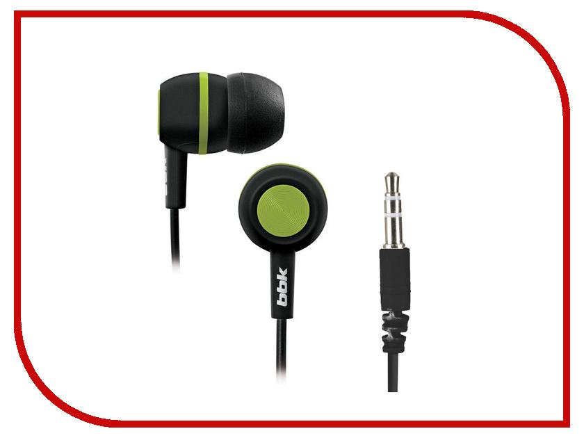 Наушники BBK EP-1230S Black-Green