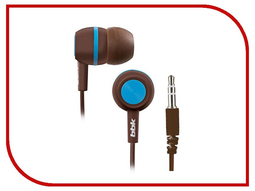 Наушники BBK EP-1230S Brown-Blue