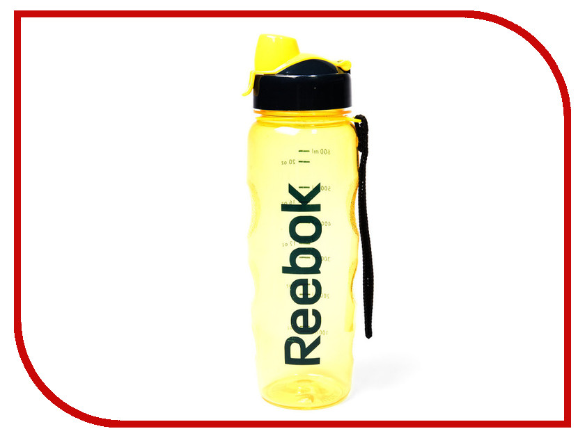 Бутылка Reebok RABT-P75YLREBOK 750ml Yellow бутылка для воды reebok 0 65 черная love арт rabt p65bklovef