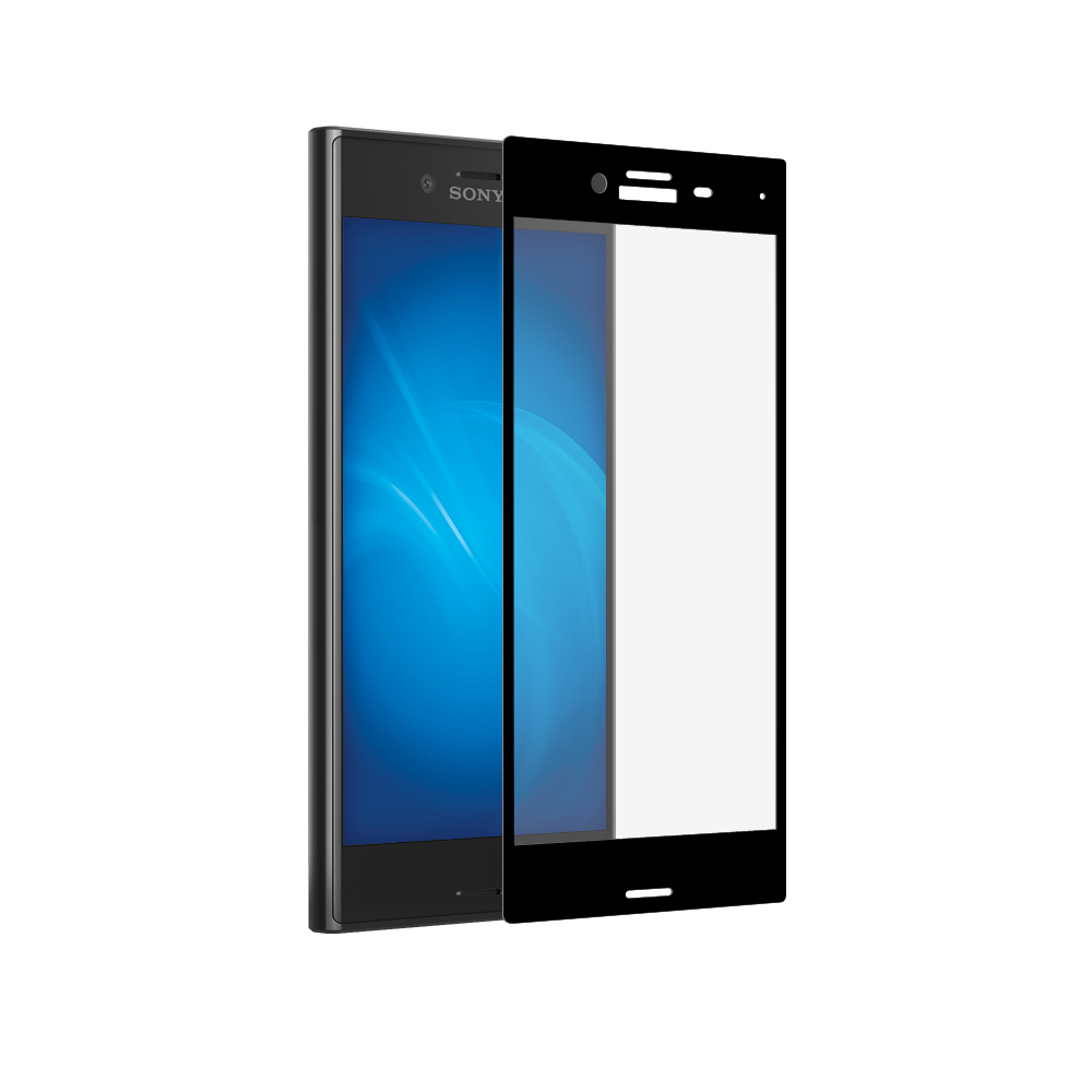 Аксессуар Защитное стекло Onext для Sony Xperia X Compact 3D с рамкой Black 41237 все цены