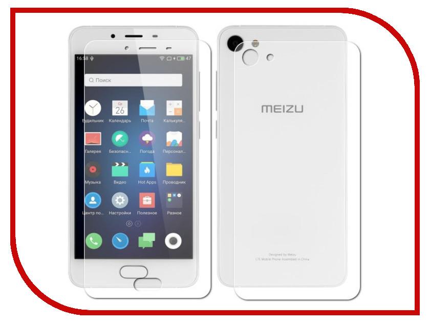 Аксессуар Защитная пленка Meizu U10 LuxCase Front&amp;Back суперпрозрачная 54862<br>