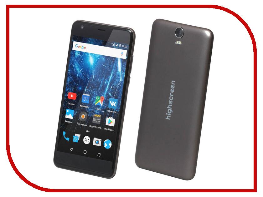 Сотовый телефон Highscreen Easy XL Brown сотовый телефон highscreen easy l pro black