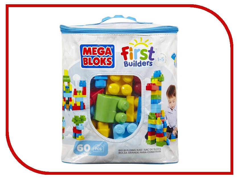 Конструктор Mega Bloks First Builders Big Building Bag DCH55/astCYP67