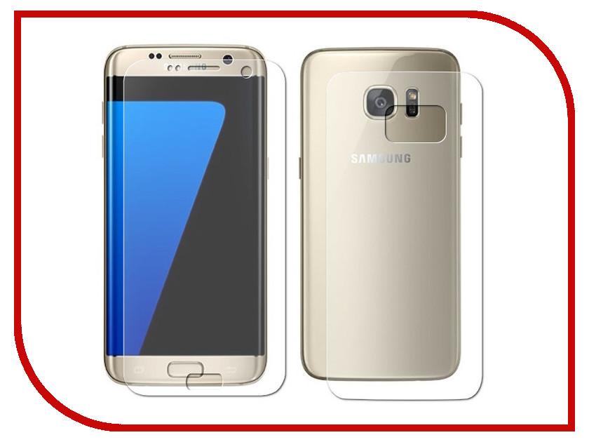 Аксессуар Защитная пленка Samsung Galaxy S7 Edge LuxCase Front&Back прозрачная на весь экран 88155 защитная пленка luxcase для samsung galaxy s6 edge front