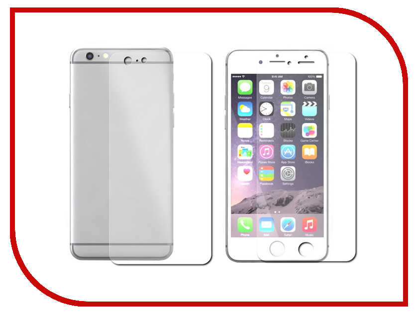 Аксессуар Защитная пленка LuxCase для APPLE iPhone 7 Front&Back антибликовая 81242