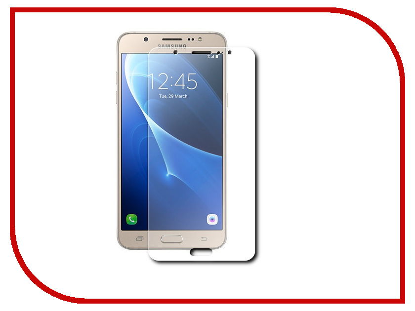 Аксессуар Защитная пленка Samsung Galaxy J7 2016 5.5 Red Line глянцевая j фаска grand line коричневая