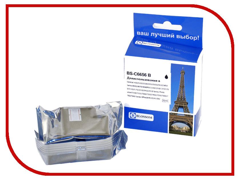 Картридж Blossom BS-C6656 Black для HP DeskJet 450/5150/5550/5552/5650/5652/5850 Series/9650/9670/9680PSC1110/1210/1315/1350/2110/2175/2210/2410/2510 Series Photo smart7150/7155/7260/7350/7450/7550<br>