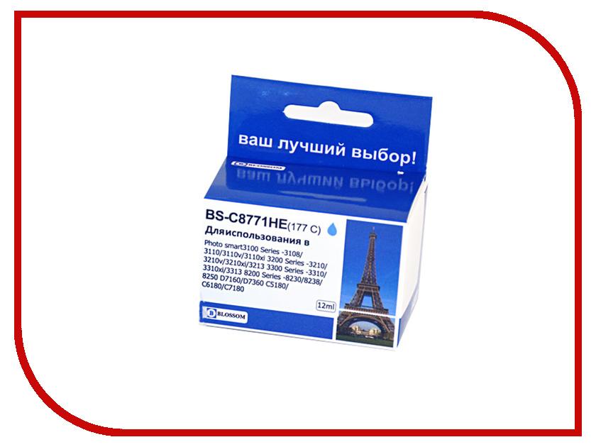 Картридж Blossom BS-C8771HE Cyan для HP Photo smart3100 Series -3108/3110/3110v/3110xi/3200 Series -3210/3210v/3210xi/3213/3300 Series -3310/3310xi/3313/8200 Series -8230/8238/8250/D7160/D7360/C5180/C6180 for hp 363 177 02 801 dye ink for hp photosmart c5180 c6180 c6280 c7160 c7180 c7280 c8180 d7145 3110 3210 3310 8230