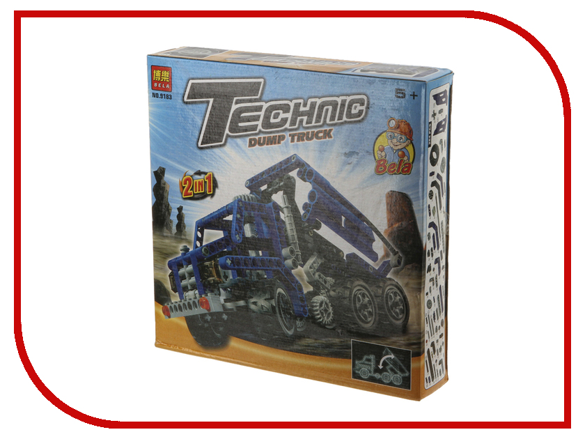 цены Конструктор Funny Line MotoBlock Грузовик 2 в 1 XL N09183