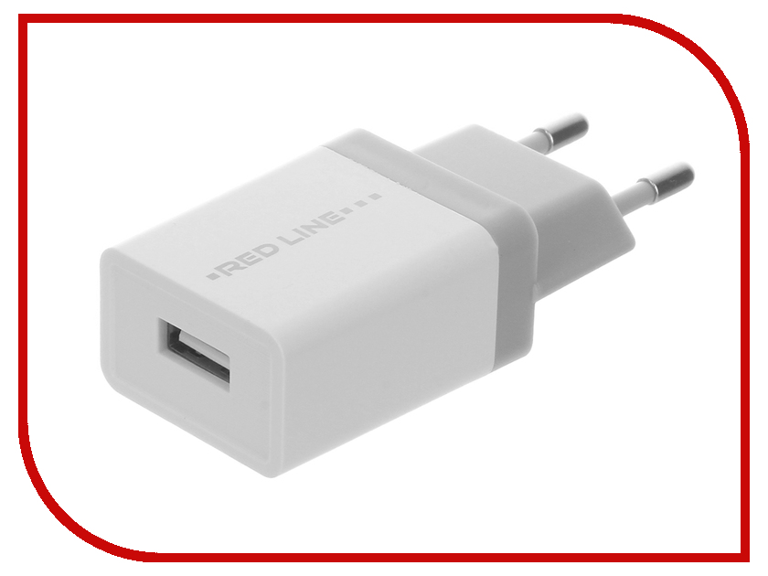 Зарядное устройство Red Line Lux 1 USB Z1 1A Fast Charger White