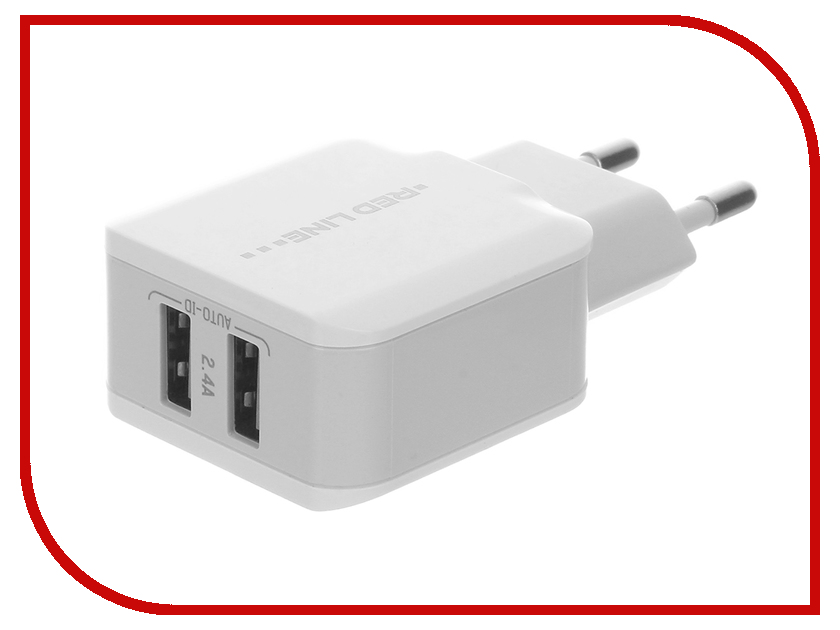 Зарядное устройство Red Line Superior 2xUSB Y2 2.4A Fast Charger White<br>