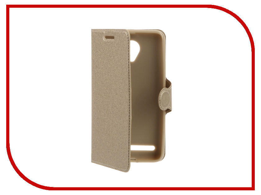 Аксессуар Чехол Lenovo Vibe C2 Red Line Book Type Gold смартфон lenovo vibe c2 power lte 16gb black