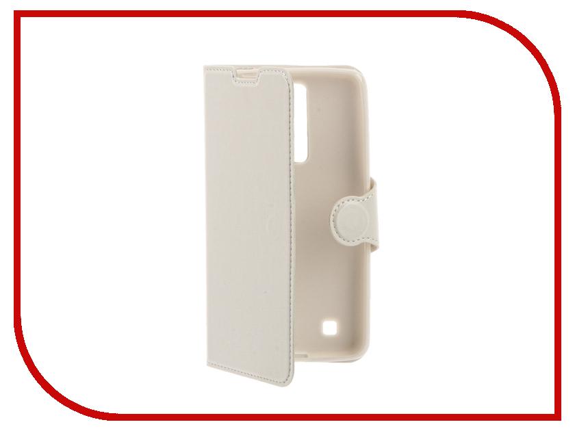 Аксессуар Чехол LG K7 Red Line Book Type White