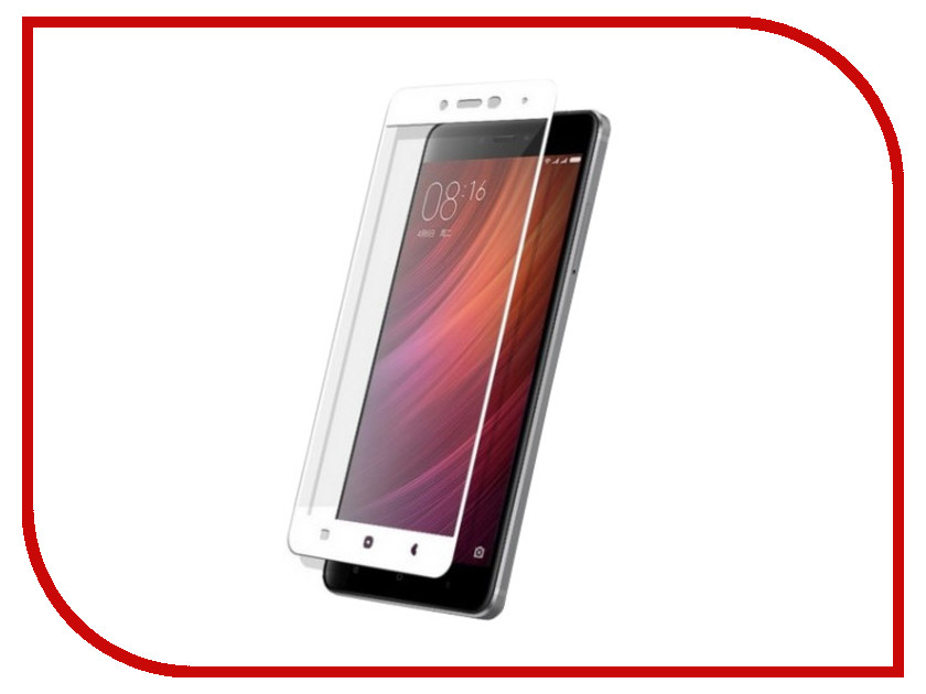 Аксессуар Защитное стекло Xiaomi Redmi Note 4 Zibelino TG Full Screen White 0.33mm 2.5D ZTG-FS-XMI-NOT4-WHT аксессуар чехол xiaomi redmi note 4 zibelino classico black zcl xia not4 blk