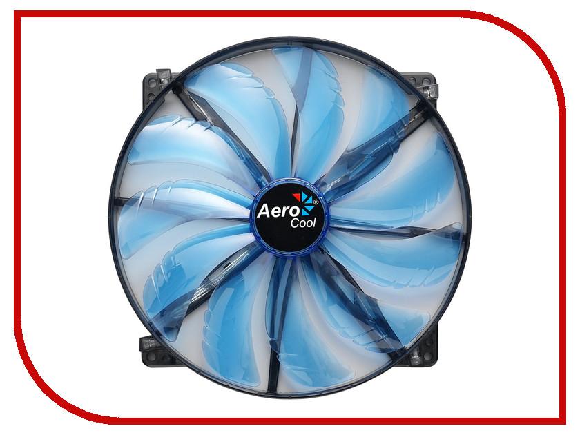 Вентилятор AeroCool Silent Master Blue LED 200mm<br>