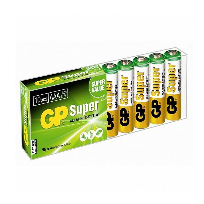 Фото - Батарейка AAA - GP Super Alkaline LR03 24A GP24A-B10 (10 штук) батарейка aaa smartbuy one lr03 soba 3a40s eco 40 штук