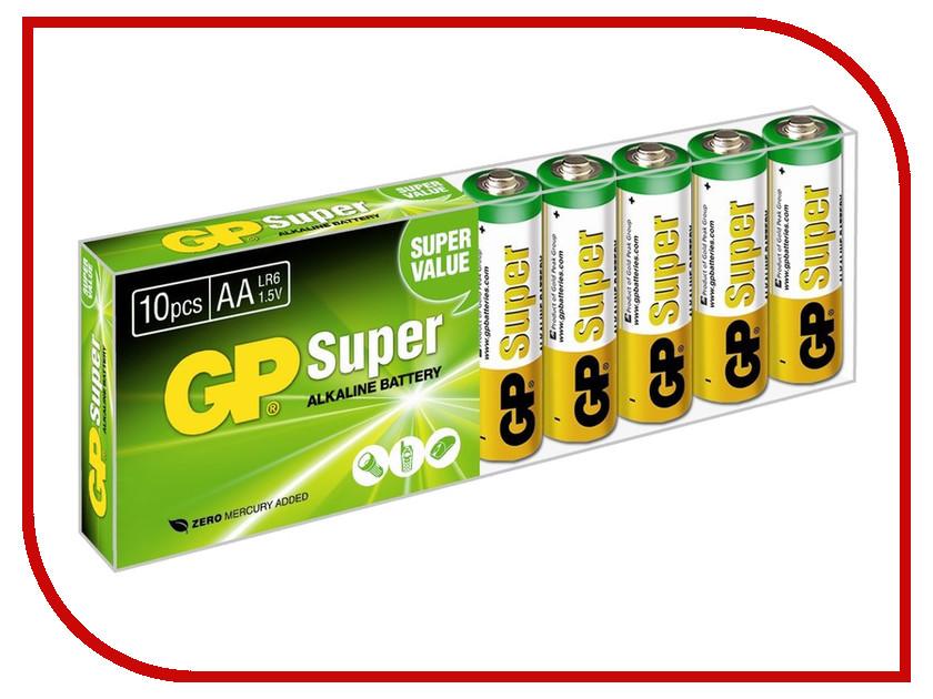 Батарейка AA - GP Super Alkaline LR6 15A GP15A-B10 (10 штук)<br>