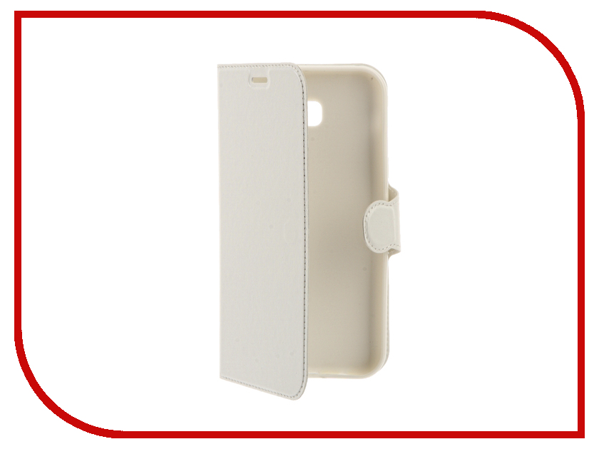 Аксессуар Чехол Samsung Galaxy A7 2017 Red Line Book Type White<br>