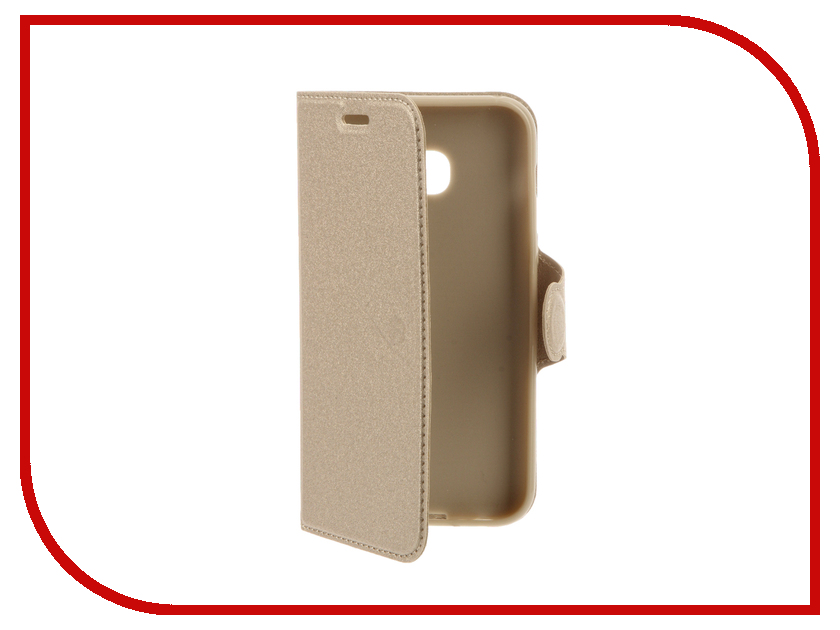 Аксессуар Чехол Samsung Galaxy A3 2017 Red Line Book Type Gold mooncase slim leather side flip wallet card slot pouch with kickstand shell back чехол для samsung galaxy a7 beige