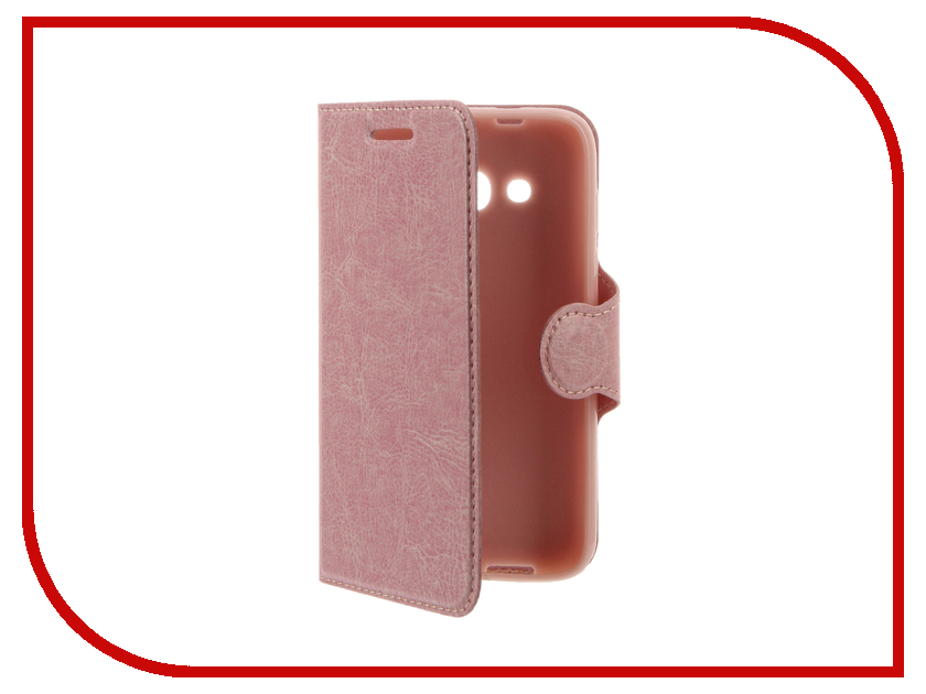 Аксессуар Чехол Alcatel OneTouch 4034 Pixi 4 Red Line Book Type Pink