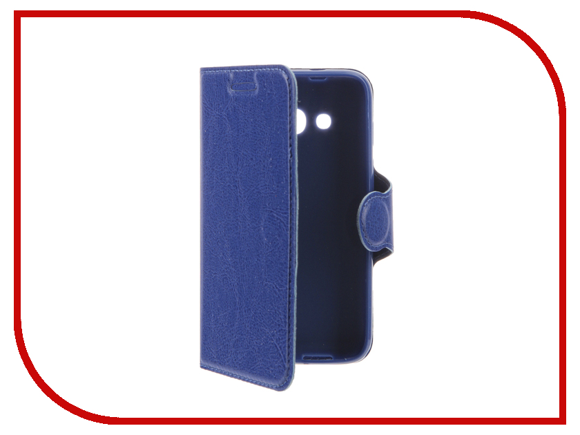 Аксессуар Чехол Alcatel OneTouch 4034 Pixi 4 Red Line Book Type Light Blue
