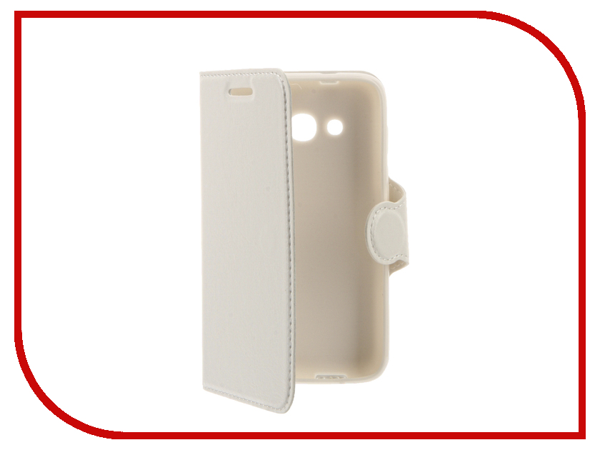 Аксессуар Чехол Alcatel OneTouch 4034 Pixi 4 Red Line Book Type White