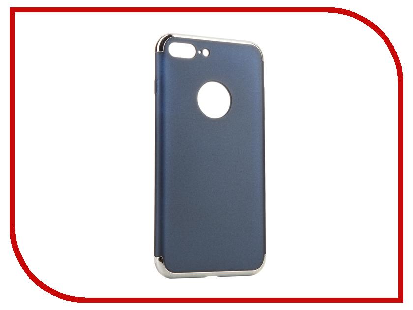 Аксессуар Чехол iBox Element для APPLE iPhone 7 Plus Blue-Silver frame