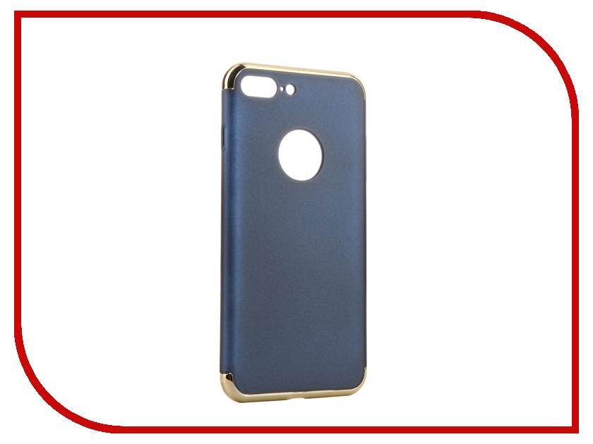 Аксессуар Чехол iBox Element для APPLE iPhone 7 Plus Blue-Gold frame