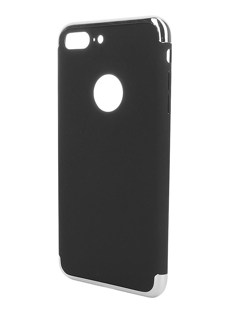 Аксессуар Чехол iBox для APPLE iPhone 7 Plus Element Silver-Silver Frame аксессуар чехол для apple iphone 7 8 plus 360 strong magnetic silver 90216