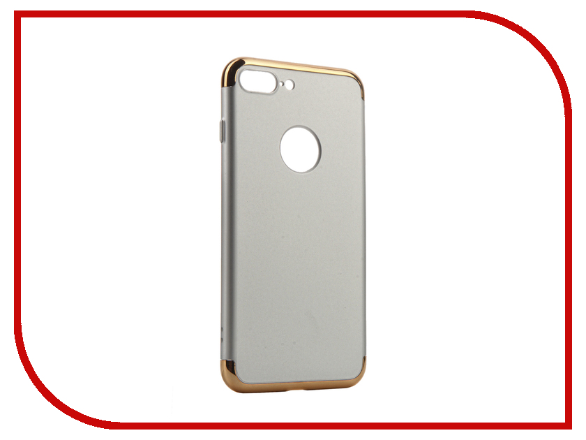 Аксессуар Чехол iBox Element для APPLE iPhone 7 Plus Silver-Gold frame<br>